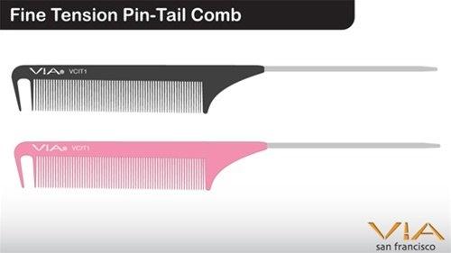 Via Fine Tension Pin-Tail Comb
