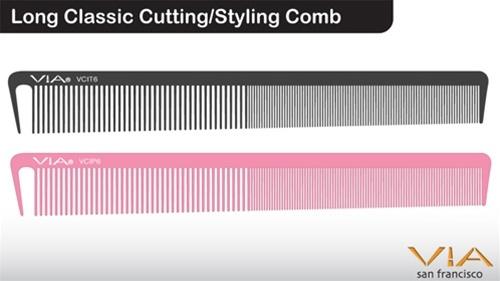 Via Long Classic Cutting/Styling Comb
