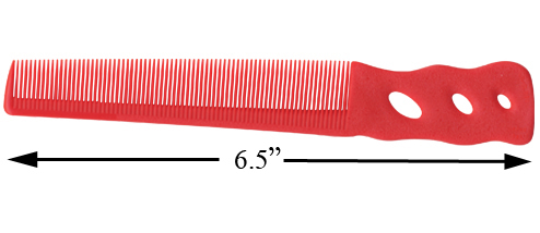 YS Park 201 Barbering Comb - Red