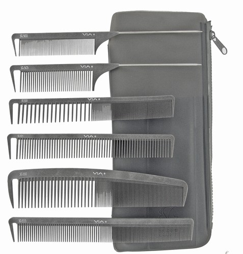Via Silicone Graphite Comb Collection with 6 combs