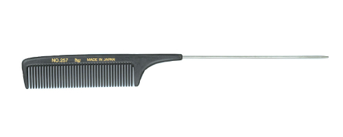 BW Boyd 257B Carbon Extra Long Metal Tail Comb